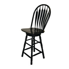 Pleasing Black Windsor Swivel Counter Stool Bar Stools Counter Squirreltailoven Fun Painted Chair Ideas Images Squirreltailovenorg
