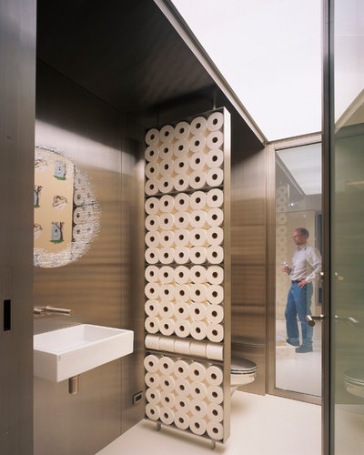 Contemporary Powder Room by Gary Hutton Design