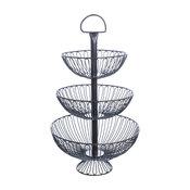 "3-Tier Decorative Wire Basket Stand, 24"""