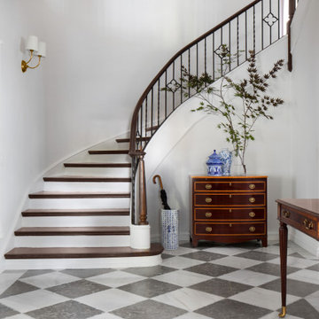Lake Drive Tudor Grand Entryway & Staircase