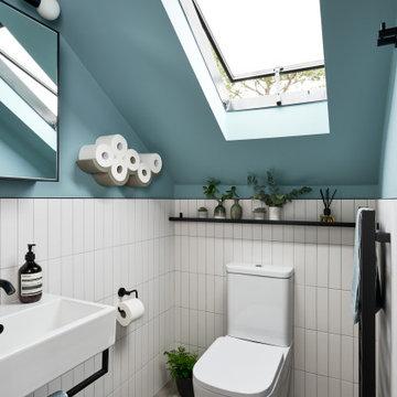 Contemporary geometric shower room