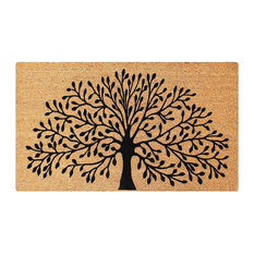 "Shredding Tree Fade Resistant 24""x36"" Coir Flocked Door Mat"