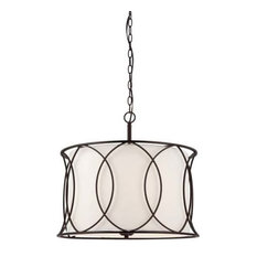 Canarm Monica 3 Light Chandelier in Oil Rubbed Bronze