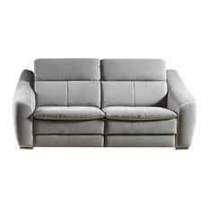 Nieri   Nieri Morena Love Seat, Gray, No Recliner, 3 Seats   Sofas