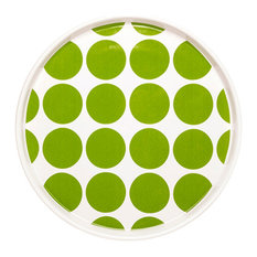Dido Spotty Plates, Green, Set of 2