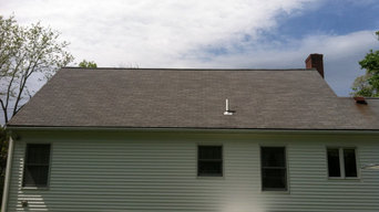 Before & After Roof Washing in Franklin, MA