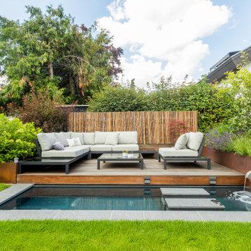 Hausgarten mit Wasserbecken & Lounge 2020