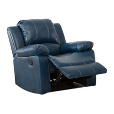 Comfort Pointe Clifton Leather Gel Recliner Navy Blue