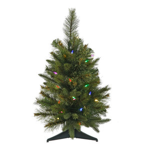 """16""""x24"""" Cashmere Pine Tree With Timer, Multicolor LED Lights"""