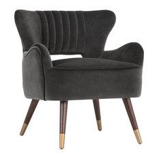 Hanna Lounge Chair, Leo Shale Gray