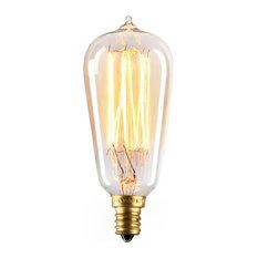Bushwick Mini ST10 Vintage Candelabra Edison Bulb 40W, E12, Set of 4