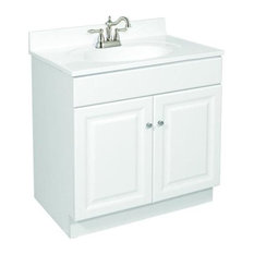 Design House   Wyndham White Semi Gloss Vanity Cabinet With 2 Doors, 30