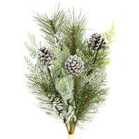 Winter Frost Pinecone Seasonal Mixed Spray