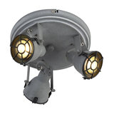 Sturdy Ceiling Spotlight 3 Concrete Grey - Medox