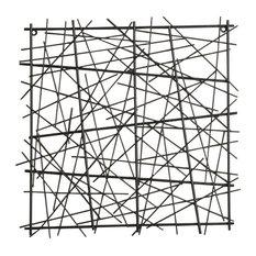 Black Square Abstract Wall Art