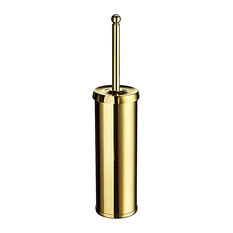 Villa Toilet Brush Polished Brass