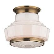 Hudson Valley Lighting Odessa Aged Brass Semi Flush w/ 1 Light 60W - 3809F-AGB