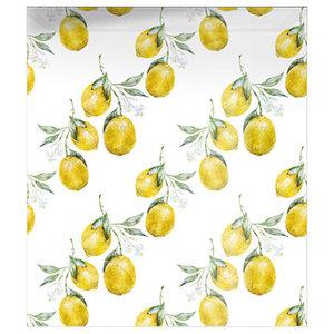 Lemon Pattern Glass Splashback, 60x60 cm