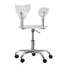 leisuremod leisuremod eleanor transparent acrylic adjustable swivel office chair office chairs acrylic office chair