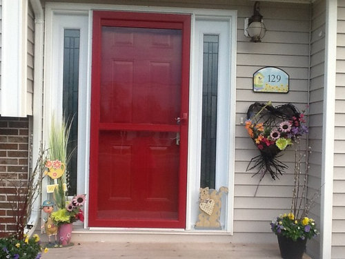 Attrayant Also If I Paint Them Black Or Beige, Should I Re Paint The Storm Door  Black??