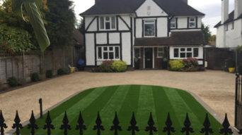 Landscape Artificial Grass Front Gardens