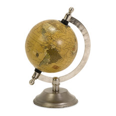 Colony Globe With Nickel Finish Base