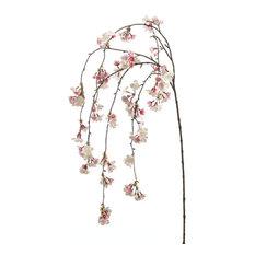 Silk Plants Direct Cherry Blossom Hanging, Set of 6, Pink