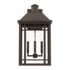 Capital Lighting Braden 927131OZ 3 Light Outdoor Wall Lantern - Oiled Bronze
