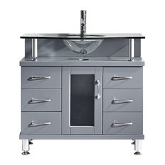 Most Popular Bathroom Vanities With A Glass Sink For Houzz - Fresca cristallino glass bathroom vanity
