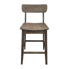 Torino Bar Stool, Barnwood Wire-Brush