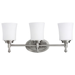 Ideal Transitional Bathroom Vanity Lighting by Transolid