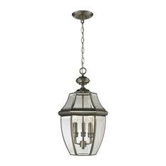 Ashford 3 Light Exterior Hanging Lantern In Antique Nickel