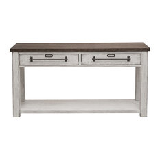 Light Oak And White Console Table