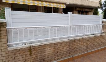 Vallado de PVC en terraza