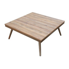 Furniture of America Eryna Patio Coffee Table, Brushed Champagne