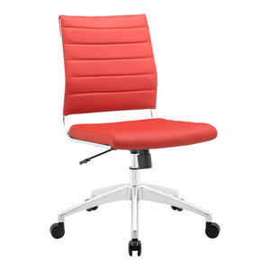 Jive Armless Mid Back Office Chair, Red