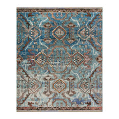 Studio Seven Woven Area Rug, HMY406F, Blue/Light Blue,  10' X 14'