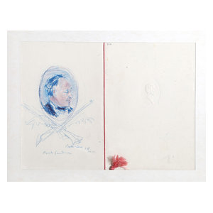 "Dimitrie Berea ""Portrait Of A Man, 24"" Pastel Drawing"