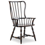 Hooker Furniture - Sanctuary Spindle Arm Chair, Ebony - Whether pulled up to the dining table or incorporated in your living room design, the Sanctuary Armchair adds charming style and a dose of country-inspired character to your space.