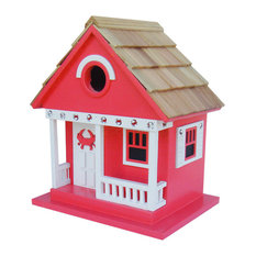 Crab Cottage Birdhouse, Red