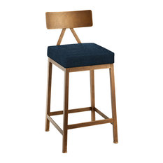 """Lyon 26"""" Counter Height Barstool, Performance Fabric, Copper Bisque"""