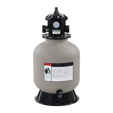"16"" Above Inground Swimming Pool Sand Filter With Valve Fit 1/2Hp 3/4Hp"