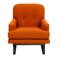 Melinda, Wools, Burnt Orange Fabric