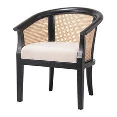 Phadra Rattan Chair Black/ Natural (set Of 2)