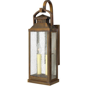 """Wall Sconce 2-Light With Sienna Finish Brass Candelabra Base Bulb 7"""", 120W"""