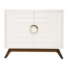 Southfield White Lacquer Cabinet Nickel Hardware