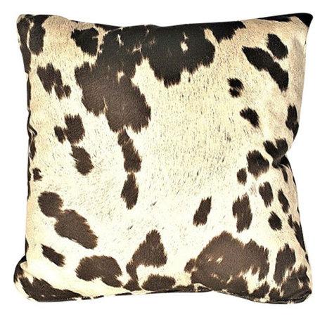 Cowhide Brown Animal Fur Decorative Throw Pillow