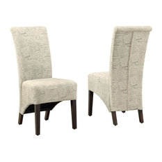 """Dining Chair, 2-Piece Set, 40""""H, Vintage French Fabric"""