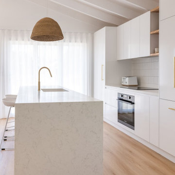 Amara creates the perfect look in white-on-white kitchen by Adore Home Magazine