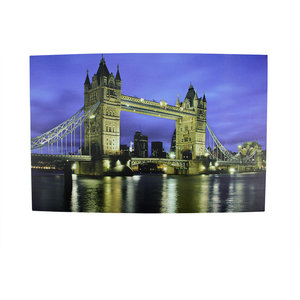 Battery Operated 6 Led London Bridge Scene Canvas Wall Hanging 23 5
